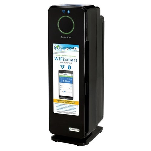 GermGuardian Smart Elite 4-in-1 Odor Reduction and UV-C Sanitation True HEPA 22-inch Tower Air Purifier