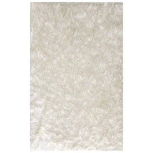 Ruggable Washable Shag Winter White 5 ft. x 7 ft. Stain Resistant Area Rug