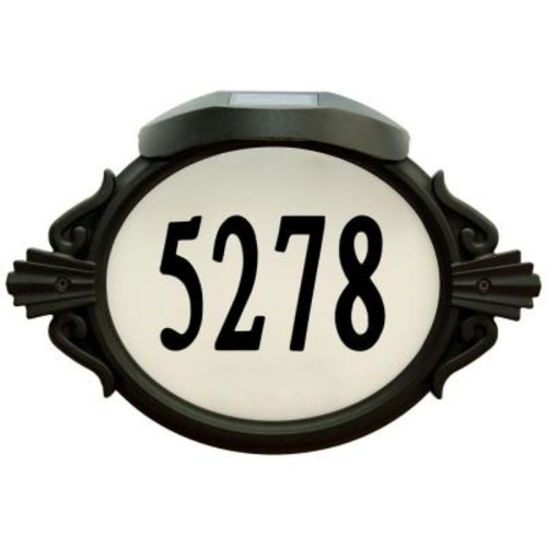 Enviromate Products Roman Oval Aluminum Lighted Address Plaque