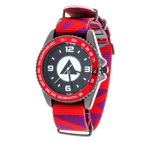 Airwalk Metal Alloy Case w/ Red Designed Cloth Strap Analog Watch