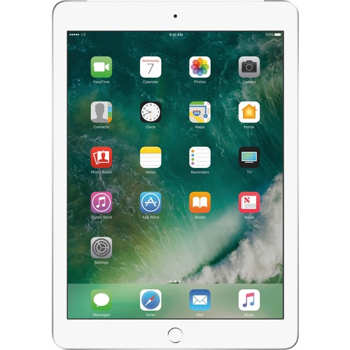 Apple - iPad (Latest Model) with WiFi + Cellular- 128GB - (AT&T) - Silver
