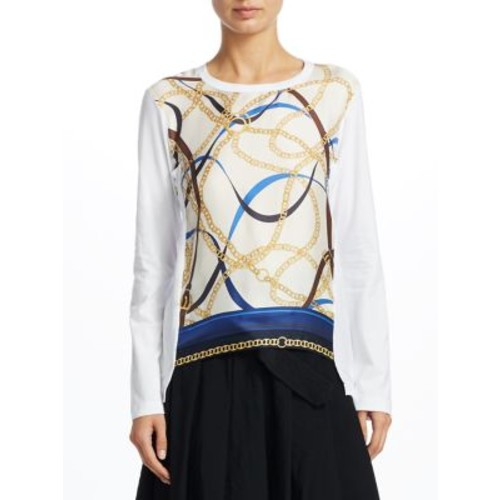 COMME DES GARCONS Silk Scarf-Print Pullover