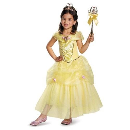 Disney Princess Girls' Belle Sparkle Deluxe Costume