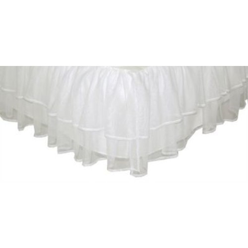 Tadpoles Triple Layer Tulle Bed Skirt; Twin
