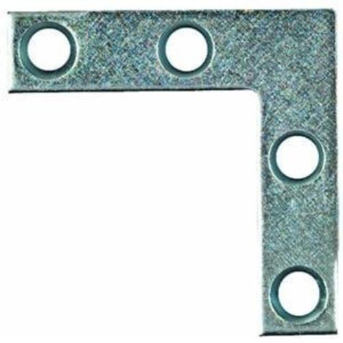 National Mfg. N113845 2-Inch x 3/8-Inch Flat Corner Braces Irons (Pack of 4)