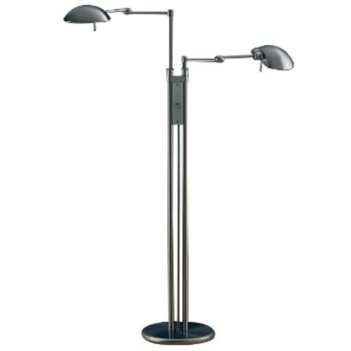 Twin Light Floor Lamp [Finish : Satin Nickel]