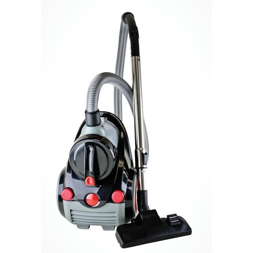 Ovente Bagless Canister Vacuum with HEPA Filter and Sofa/Pet Brush - Compact, Featherlite - Cyclonic - Corded (ST2010)