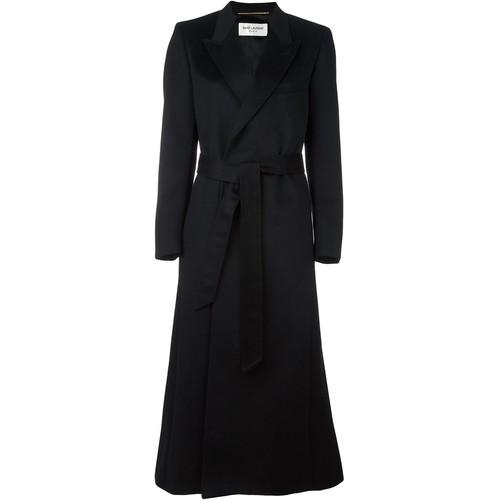 SAINT LAURENT Belted Long Coat