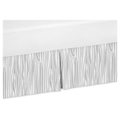 White & Gray Bed Skirt - Sweet Jojo Designs