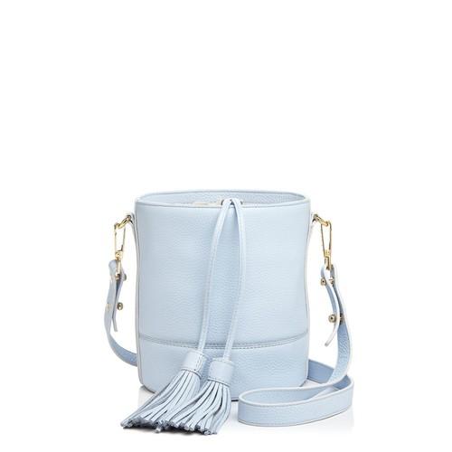 Astor Drawstring Leather Bucket Bag