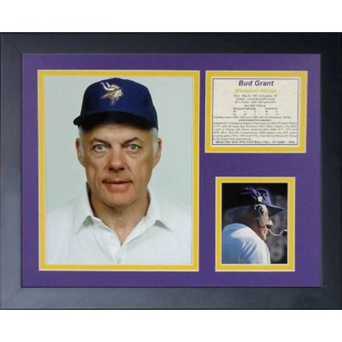 Legends Never Die Bud Grant Framed Memorabilia
