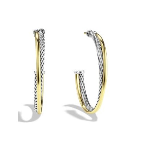 Crossover Extra-Large Hoop Earrings with G