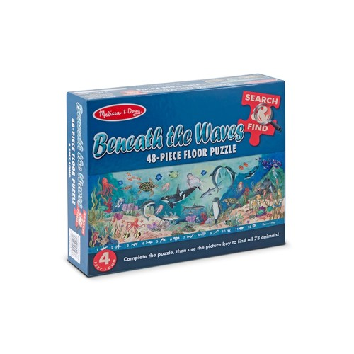 Search & Find Beneath the Waves Floor Puzzle by Melissa & Doug | multi | Gilt