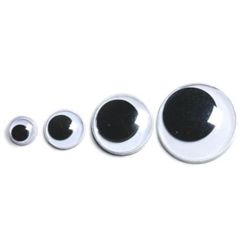 S&S TR104 White/Black Wiggly Eyes, 1000/Pack
