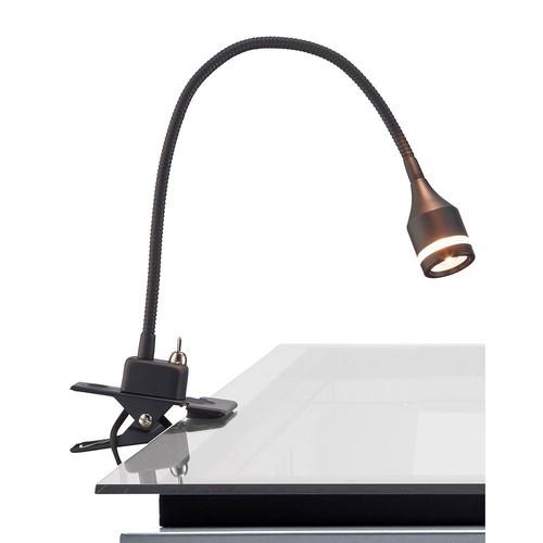 Adesso 14.5 in. Black Prospect LED Clip Lamp