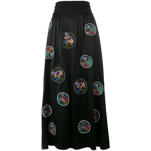 FENDI Embroidered Flower Skirt