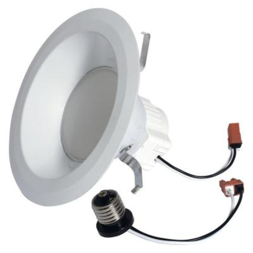 GE 65W Equivalent Daylight (5000K) High Definition S6 Medium Base 6 in. LED Down Light Bulb
