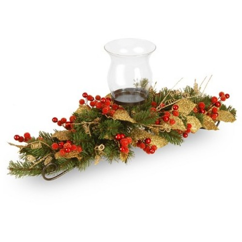 National Tree Company 30in Berry and Leaf Vine Single Cup Candle Holder