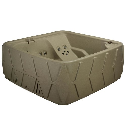AquaRest Spas Elite 500 5-Person Lounger Plug and Play Hot Tub with 29 Stainless Jets, Ozone and LED Waterfall in Cobblestone