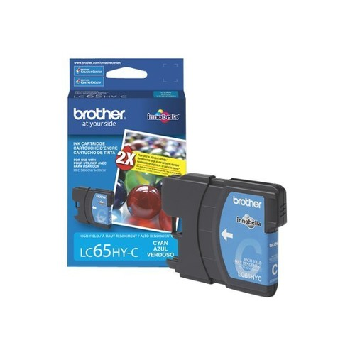 Brother LC65HYC (LC-65HYC) High-Yield Ink, 750 Page-Yield, Cyan
