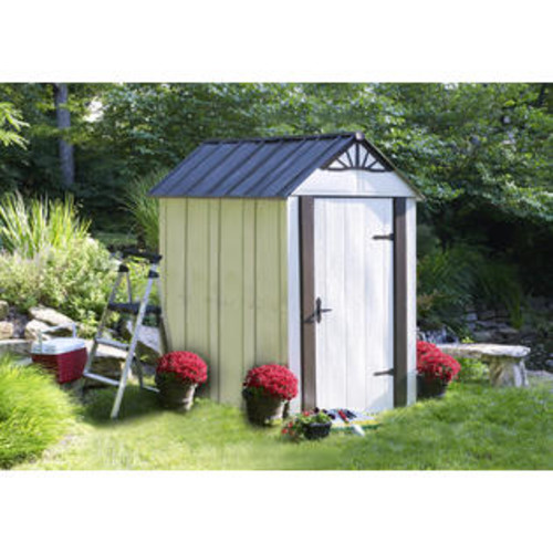 Arrow Designer Series Metro 6ft. W x 4ft. D Steel Storage Shed
