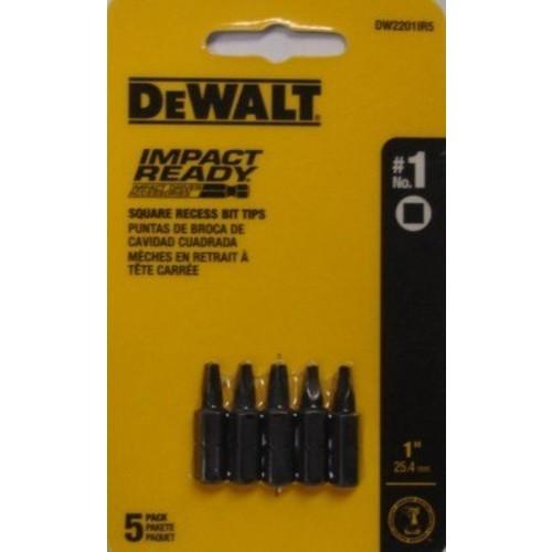 Dewalt DW2201IR5 #1 Square Impact Ready Drive Bits 5pcs