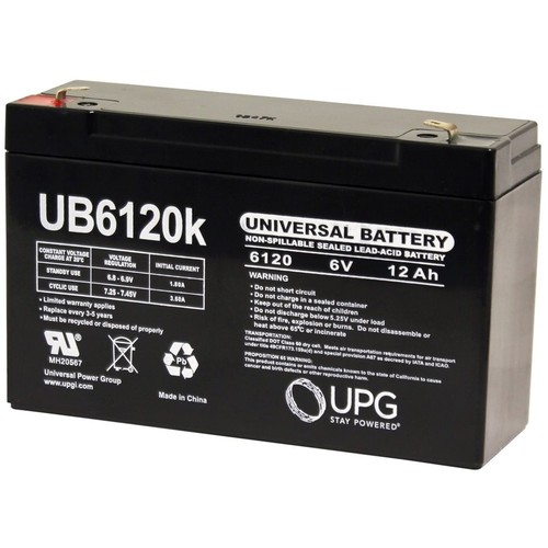Universal Power Group - Lead Acid Battery 6V 12AH