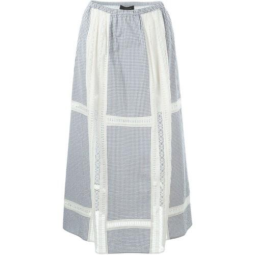 THAKOON Gingham A-Line Skirt