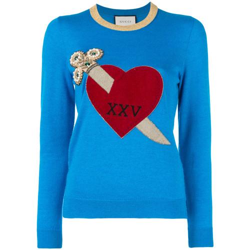 GUCCI Heart And Dagger Motif Sweater