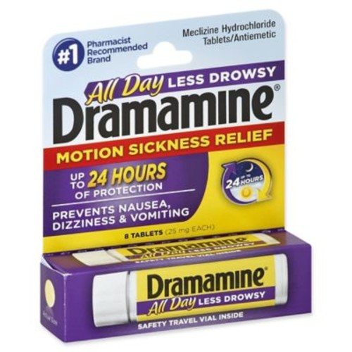 Dramamine Less Drowsey Formula 8-Count Motion Sickness Relief Tablets