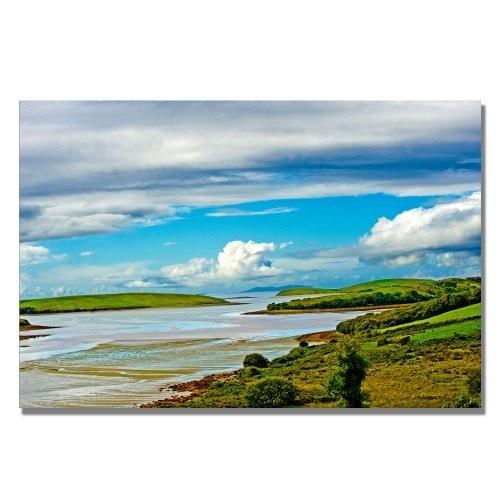 Irish Afternoon by Preston, 16x24-Inch Canvas Wall Art [16 by 24-Inch]