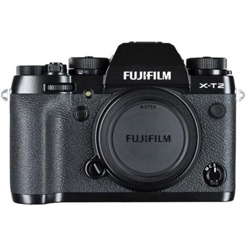 Fujifilm X-T2 Mirrorless Body, Black With Tascam DR-10SG Camera-Mountable Mic
