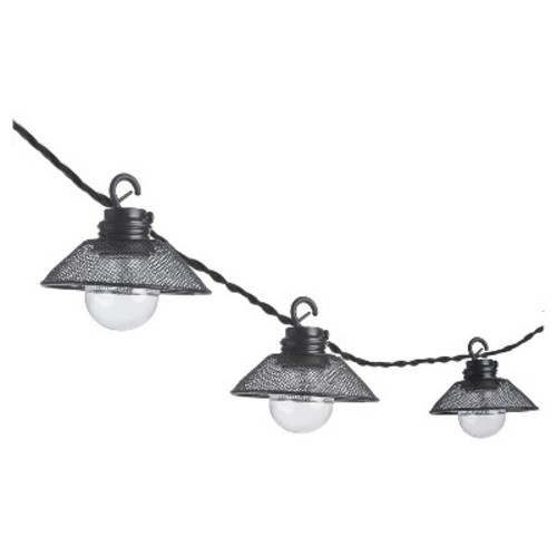 Paradise Garden 10 Ct LED String Light - Black Shades