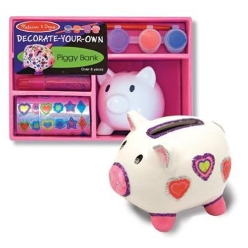 Melissa & Doug Decorate-Your-Own Piggy Bank Craft Kit [Piggy Bank - DYO]