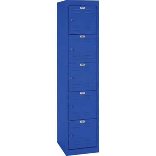 Five tier locker, hasp handle, blue