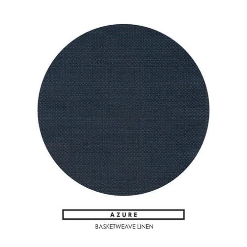 Bushwick Azure Blue Linen Made to Order Chair [option : 41