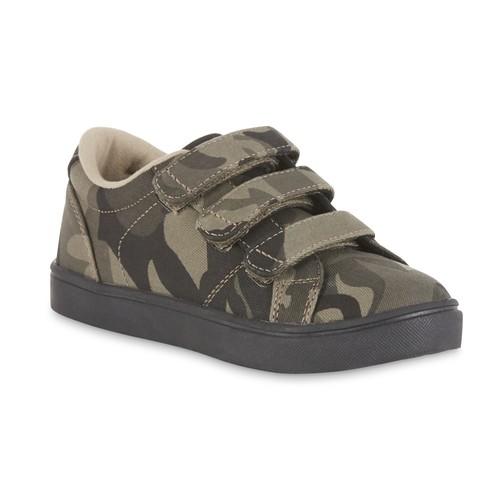 Marc Ecko Boys' Triple Strap Camo Green Sneaker [Width : Medium]
