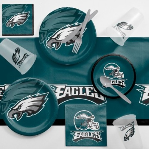NFL Turquoise And Gray Philadelphia Eagles Game Day Party Supplies Kit