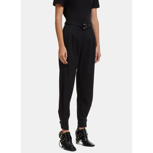 Rollercoaster Belt Pants in Black