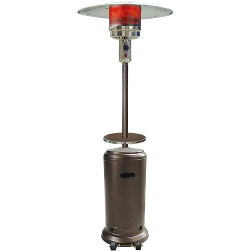 Hanover 7 ft. 41,000 BTU Hammered Bronze Steel Umbrella Propane Gas Patio Heater