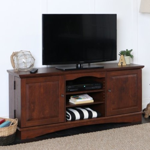 Walker Edison Brown TV Stand for TVs up to 65