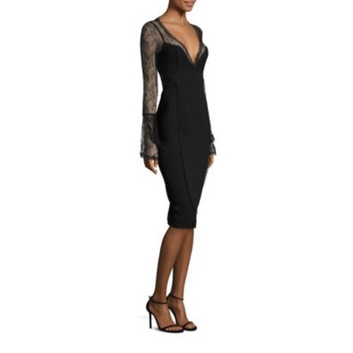 NICHOLAS Lace Bell Sleeve Sheath Dress
