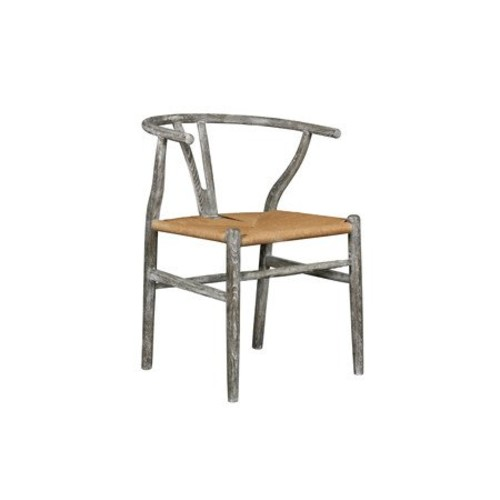 Oslo Armchair in Assorted Finishes by Bungalow 5 - Gray Limed Oak [Finish : Gray Limed Oak]