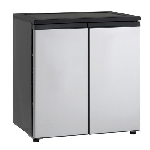 Avanti 5.5 Cu. Ft. Compact Refrigerator - Black with Stainless Steel