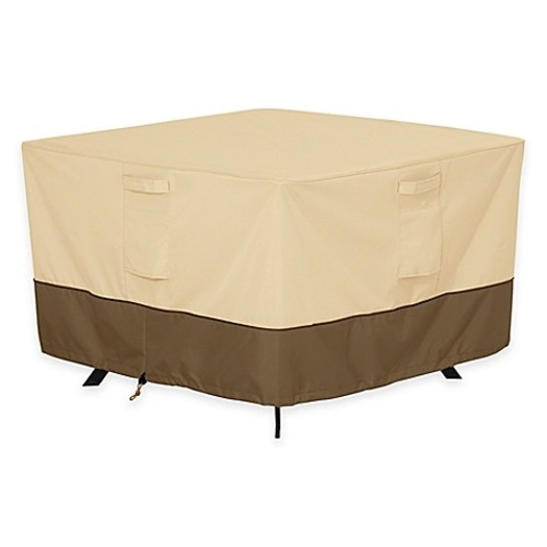 Classic Accessories Veranda Medium Square Patio Table Outdoor Cover
