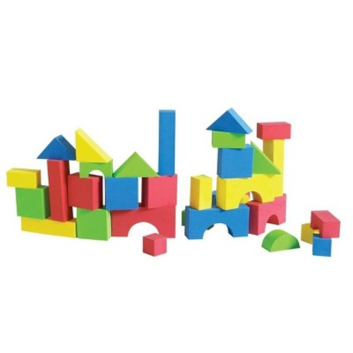 Edushape Educolor Building Blocks, 80 Piece [Standard Packaging]