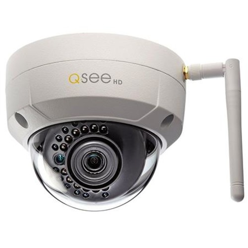 Q-See 3MP/1080p High Definition Wi-Fi Dome Security Camera, with 16GB SD Card