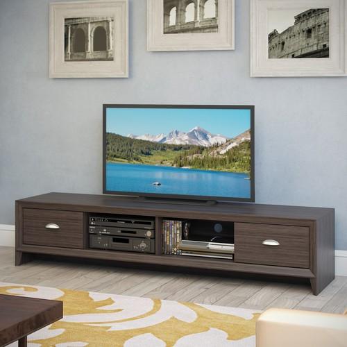 CorLiving TLK-872-B Lakewood Extra Wide TV Bench - Modern Wenge