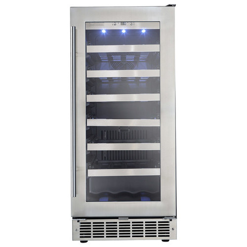 Silhouette - Professional 28-Bottle Built-In Wine Cooler - Silver