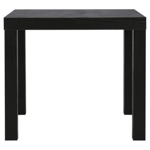 Parsons End Table - Black Wood Grain - Black - Dorel Home Products